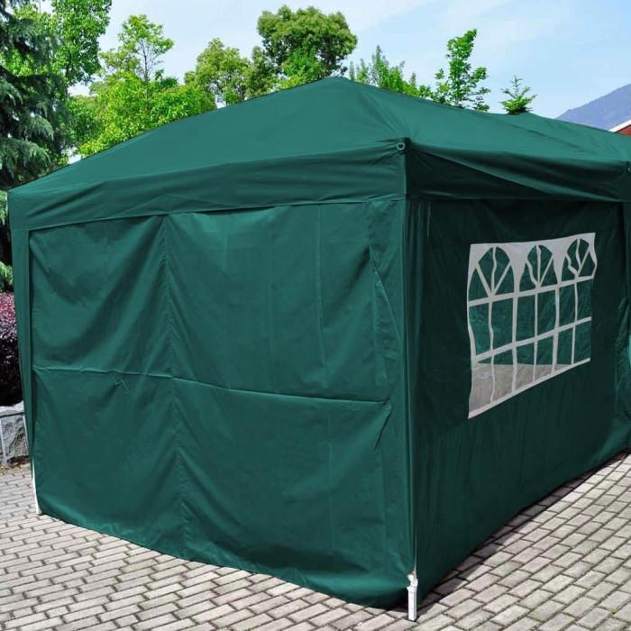 Страница за шатра TLC001-A с прозорец, зелена