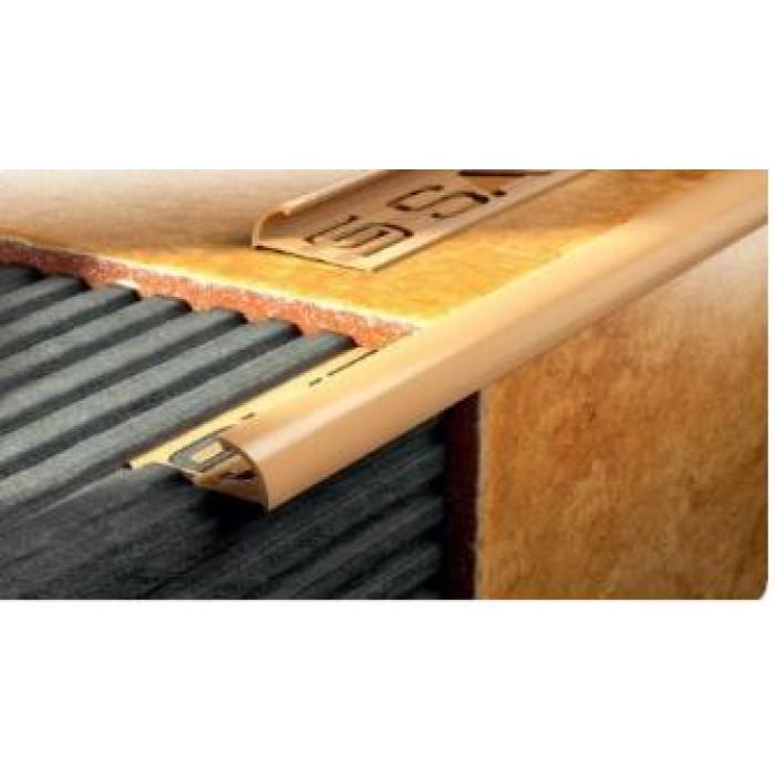 PVC външен ъгъл 2.5м бронз