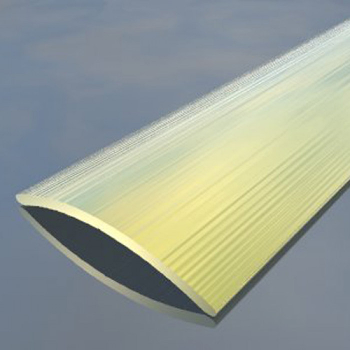 Преходна алуминиева лайсна 40мм релеф сребро 2.7 метра