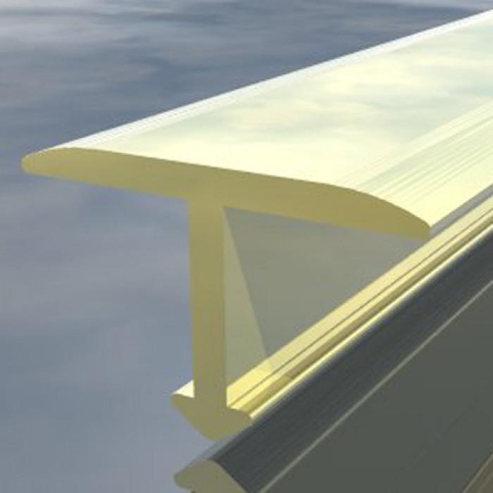 Полирана алуминиева Т-образна лайсна 20мм 2.7м сребро