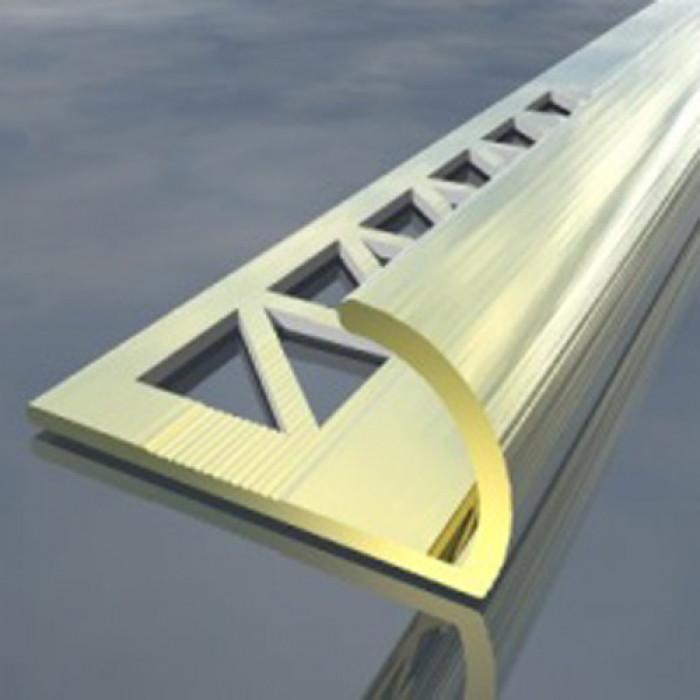 Полирана алуминиева лайсна външен ъгъл 10мм 2.5м бронз