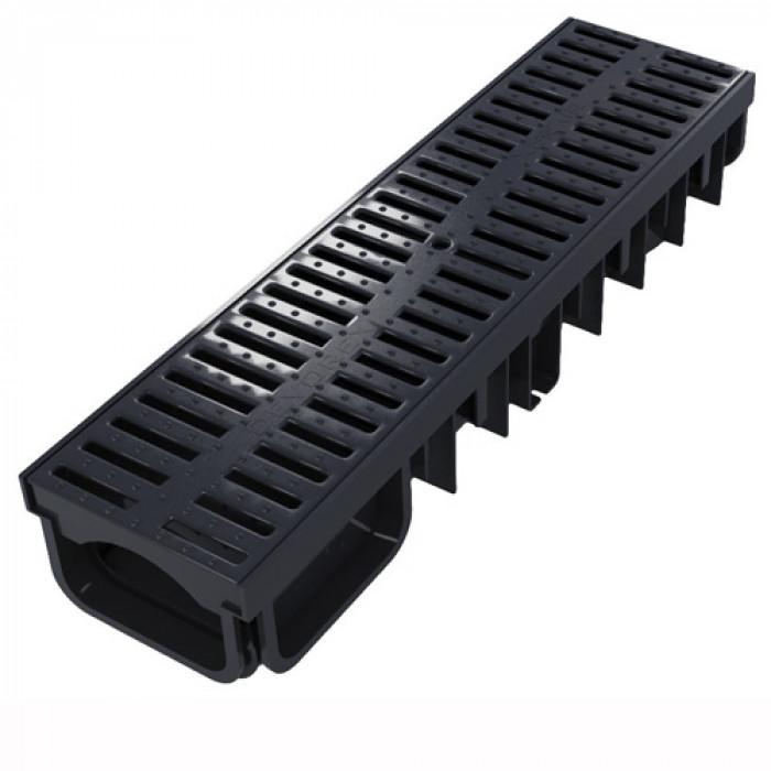 Канал с пластмасова решетка Xdrain 130/50 0.5м