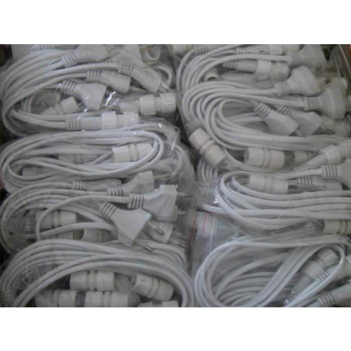 Комплект захранващ кабел+съединител+тапа