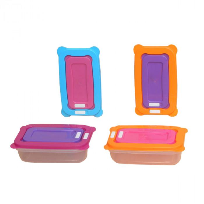 Кутия за храна с капак All in One 2 броя