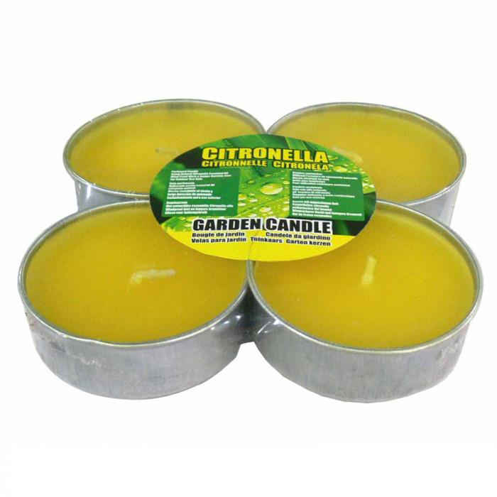 Чаени свещи против насекоми джъмбо Citronella 4 броя