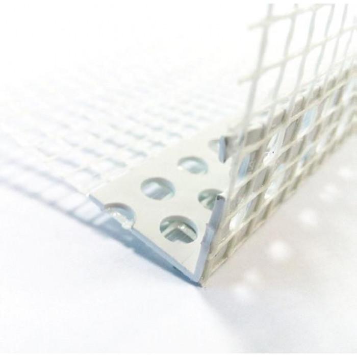 PVC ъгъл с мрежа 2.5м