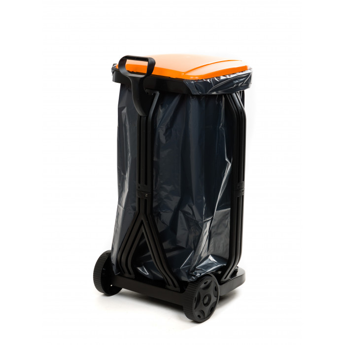 Количка кошче с полиетиленова торба 100л