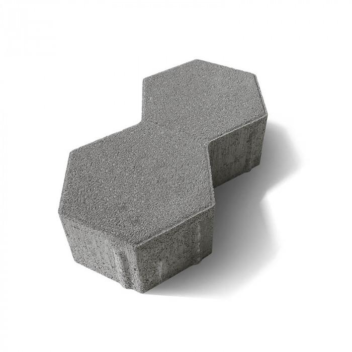 Паве двоен хексагон 6 / сив цвят