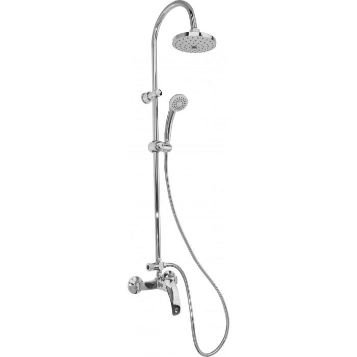 Kомплект слушалка / шлаух и смесител за душ с тръбно окачване Cascada PL101HE-1