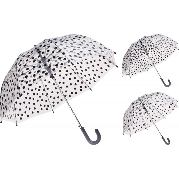 Прозрачен чадър за дъжд DB7250180