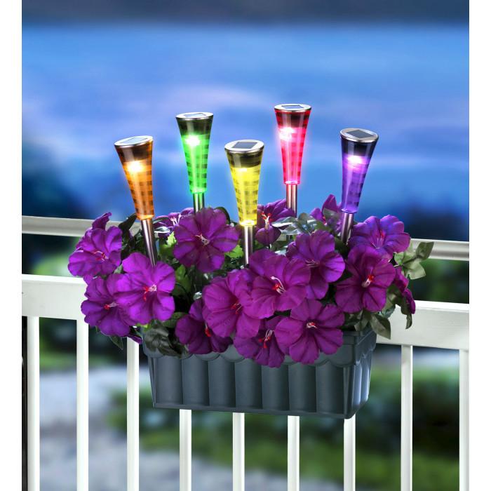 Соларна лампа за градина с променящи се цветове SS-6012 LED