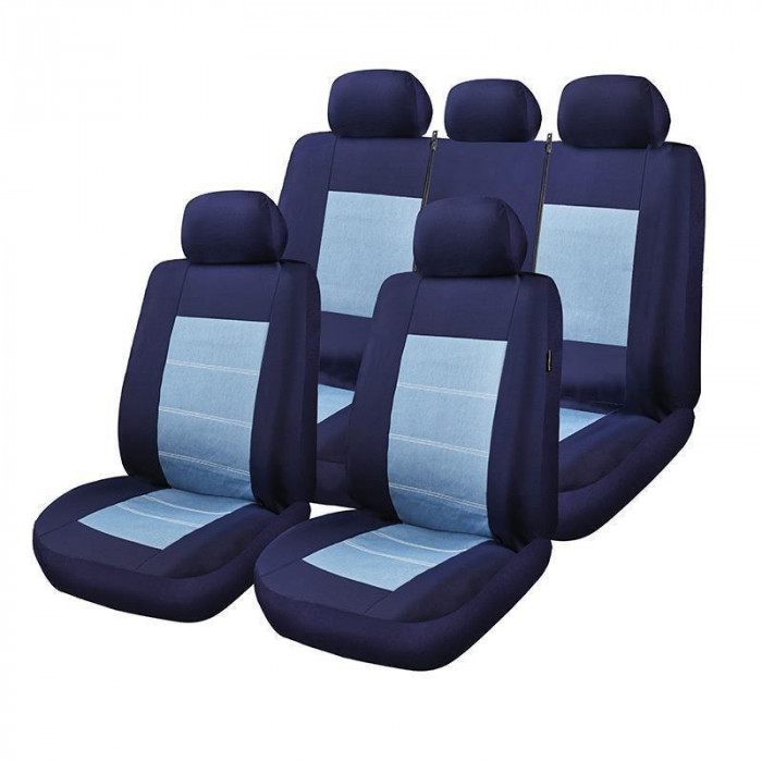 Калъфки за автомобилни седалки Blue Jeans за Air Bag 1/3-2/3  9 броя