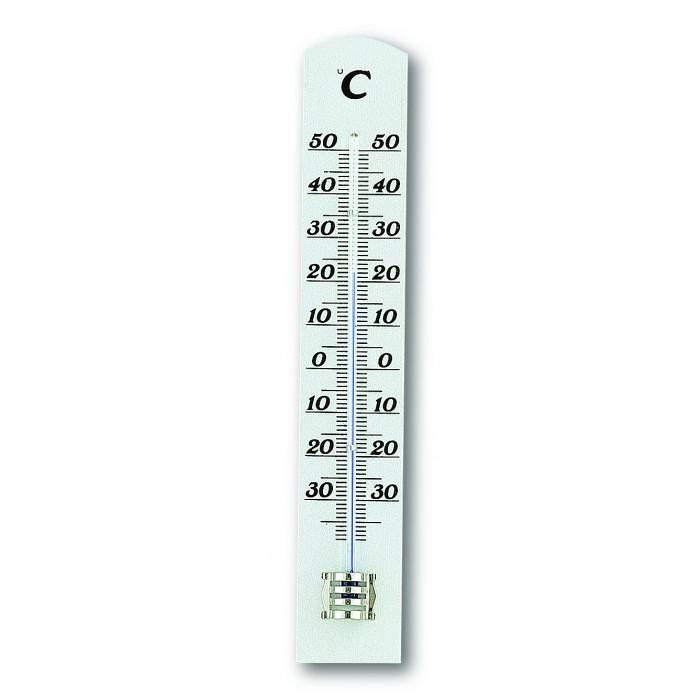 Стаен термометър  -0 до +50°С 31x16x180мм бук антично бял