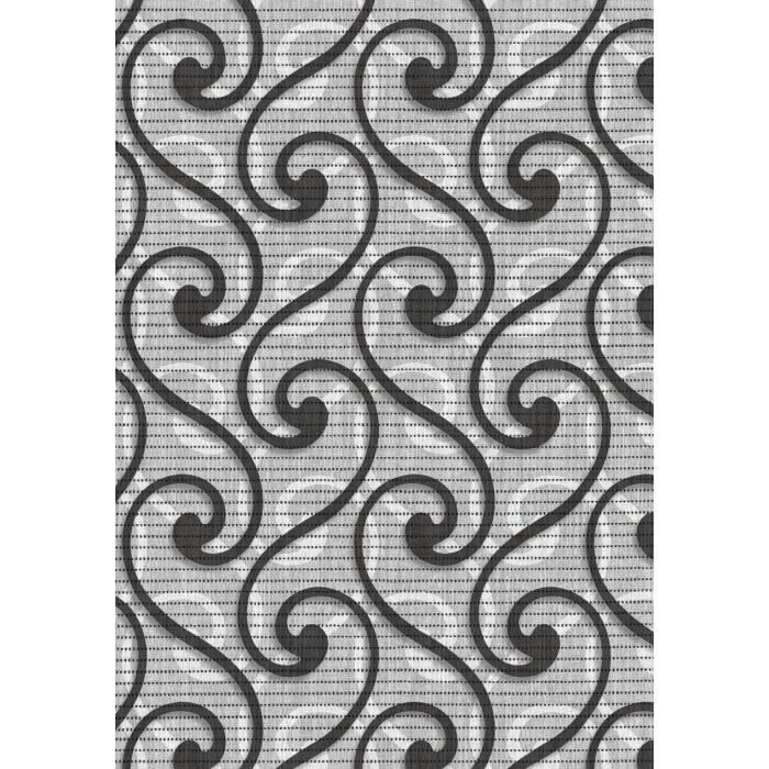 Постелка за баня 65 см 594/4 сив ормаменти