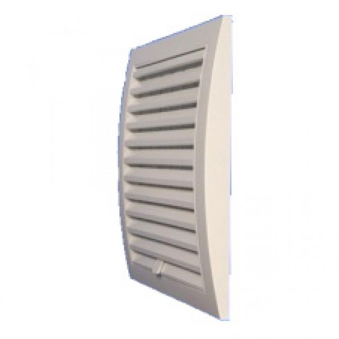 PVC решетка / фланец Europlast ND12 / 190x190мм / ø125мм