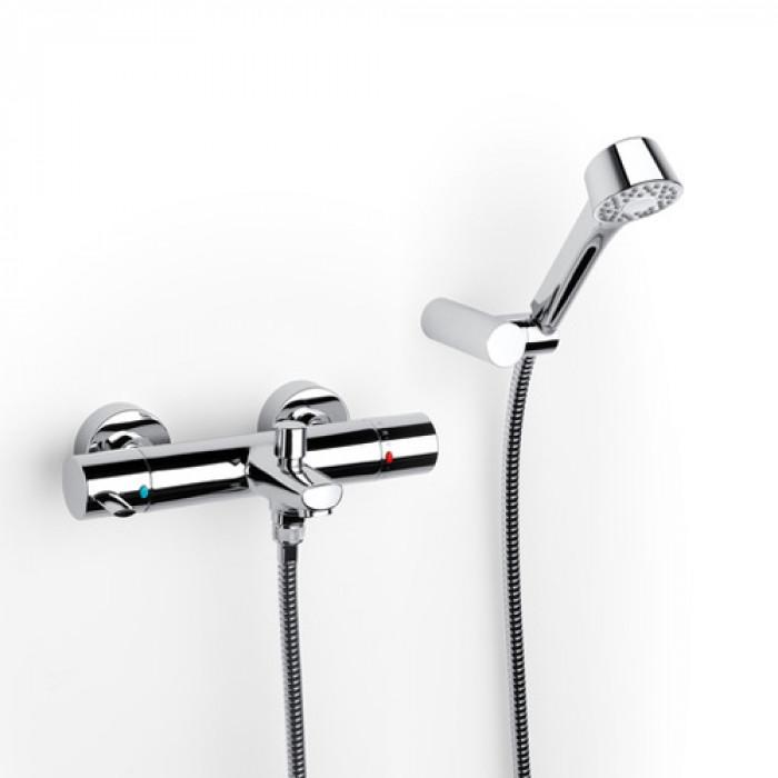 Стенен термостатичен смесител за вана и душ Roca Targa