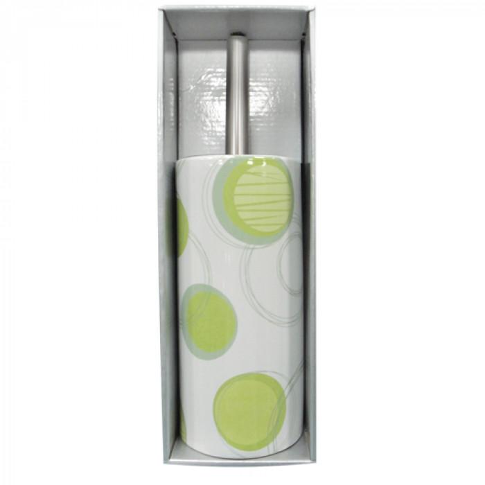 Четка за тоалетна порцелан №200е2477 зелено