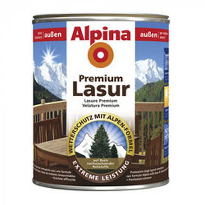 Лазурен лак за дърво Премиум дъб 0.750л Alpina premium holzlasur eiche