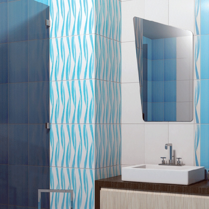 Плочки за стенна декорация / фриз 60 x 400 Амира сини Лукс