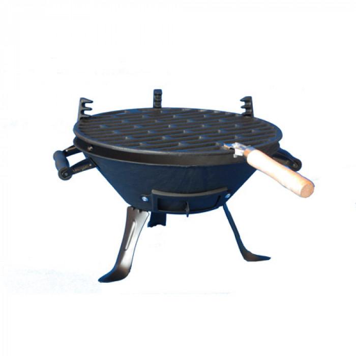 Чугунено барбекю за дървени въглища ø30см