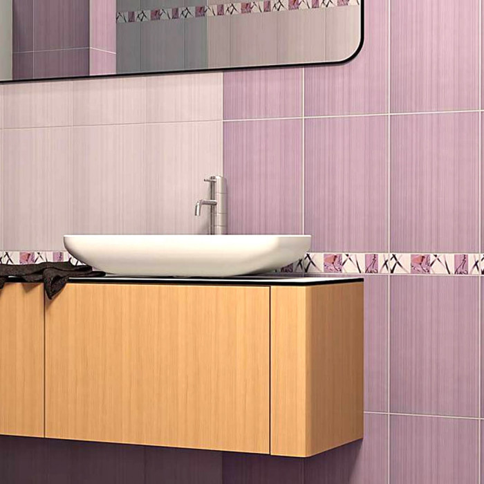 Плочки за стенна декорация / фриз Дария Kомфорт виолетови 60x250мм