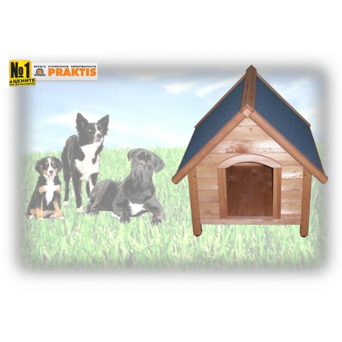 Дървена колиба за куче / размер M