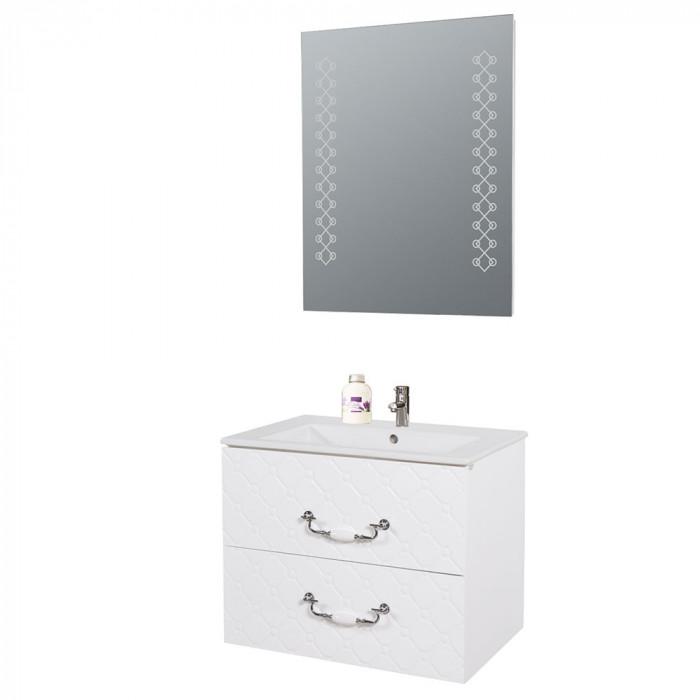 Огледало за баня с LED осветление Макена Форте 60х75см