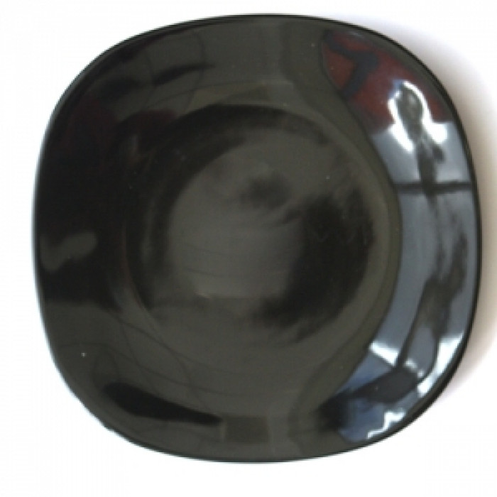 Квадратна керамична чиния 21см черна