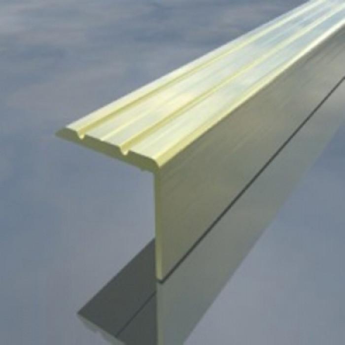 Алуминиева Г-образна лайсна 25/17мм 2.7м жълта