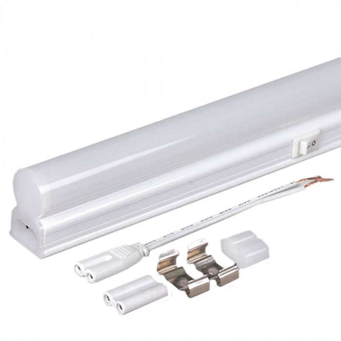 Осветително тяло SMD 2835 LED T5 термопластик студена  220V 270 7W