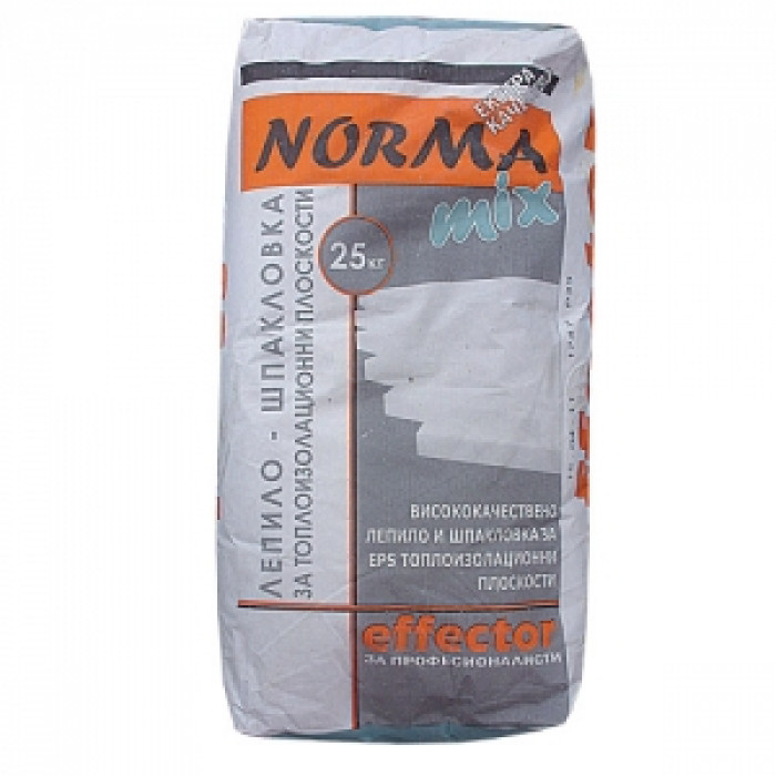 Лепило и шпакловка за топлоизолация Effector Normamix за EPS 25kg
