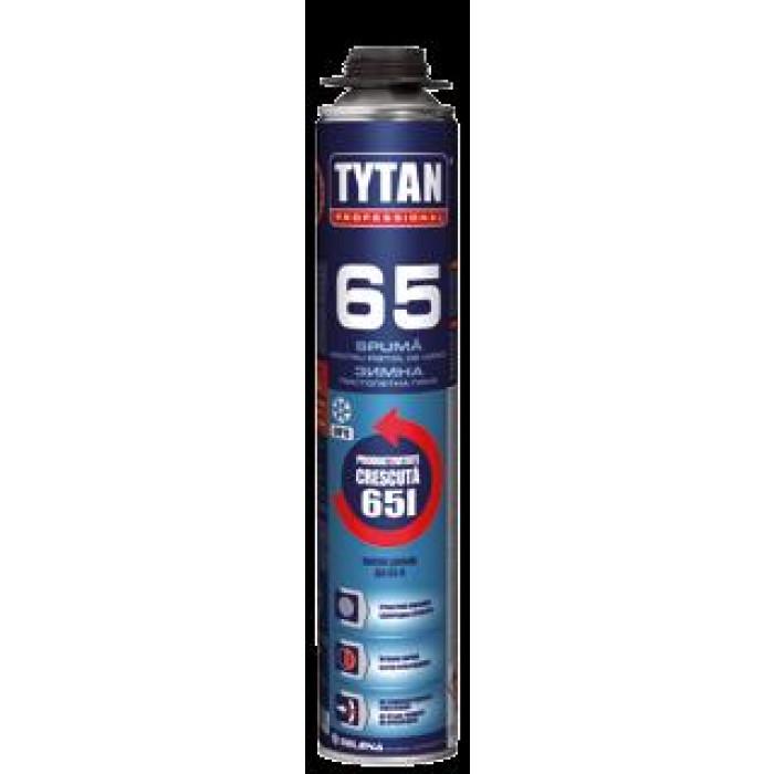 Полиуретанова пистолетна пяна Tytan Professional O2 65 / 870мл зимна