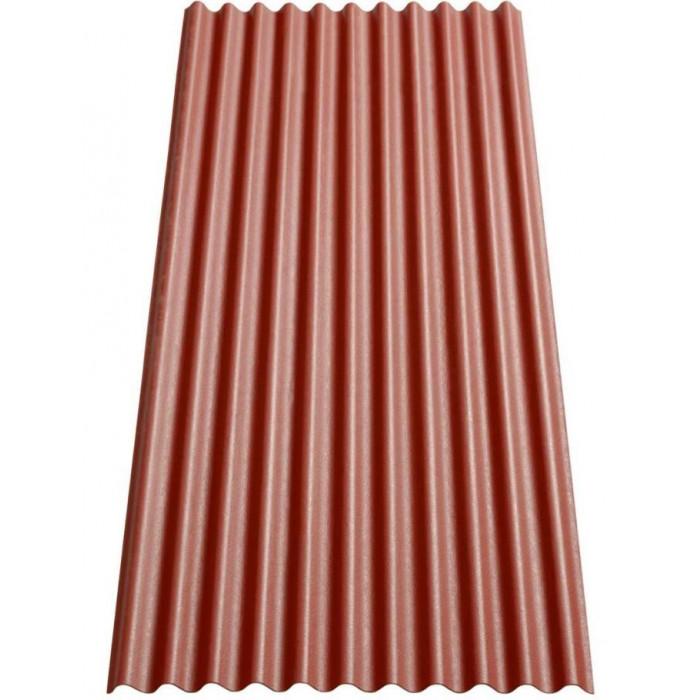 Вълнообразен битумен лист Гутанит К11 200х83 червен