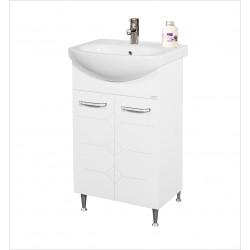 Долен шкаф за баня с умивалник Makena Перла