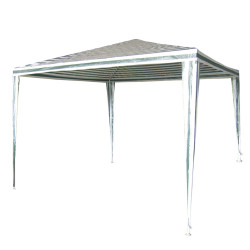 Градинска шатра полиетилен / 2.4х2.4м / бяло и зелено TLC003