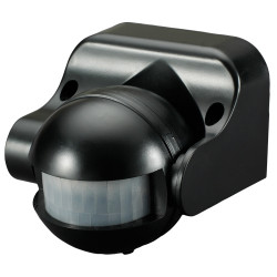 Сензор за движение за външен монтаж 1200W черен