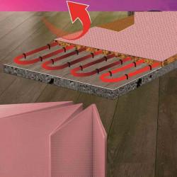 Подложка за подово отопление хармоника 1.8mm / 1.05x8m
