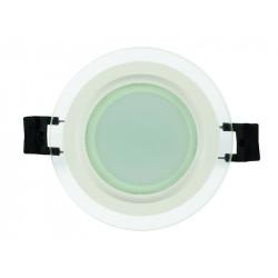 LED стъклен панел кръг 6W