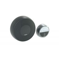 Безжичен звънец 100 метра черен