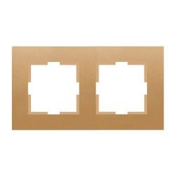 Двойна рамка хоризонтална бронз Panasonic Каре Плюс