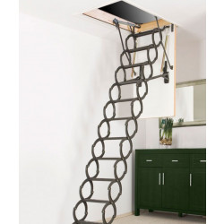 Сгъваема метална таванска стълба тип хармоника Minka Elegance 120х60 / 300 см