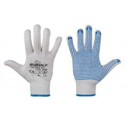 Плетени ръкавици с ПВЦ точки на дланта B-Wolf Kele размер 10