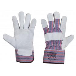 Работни ръкавици от цепена телешка кожа и плат B-Wolf Buffalo размер 10