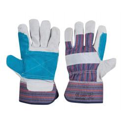 Работни ръкавици от цепена телешка кожа и плат B-Wolf Coli размер 10