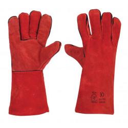 Ръкавици за заварчици от цепена телешка кожа B-Wolf Pyre размер 10