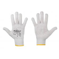 Плетени памучни ръкавици B-Wolf Bleach 650000 размер 10