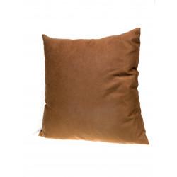 Декоративна възглавница с цип и пълнеж 43х43см / капучино