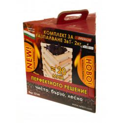 Комплект за разпалване 3 в 1 с въглища Premium