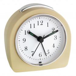 Безшумен часовник будилник Ретро / бежов