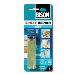 Двукомпонентна епоксидна смес / стомана за водна среда Bison Epoxy Repair Aqua 56 гр / блистер